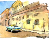 ACEO Limited Edition- Old Car III, in watercolor