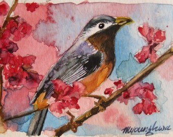 ACEO Limited Edition 5/10-The Herald of Spring