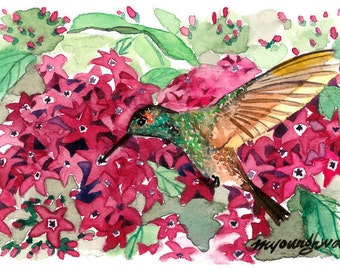 ACEO Limited Edition - Magnificently Miniature, in watercolor
