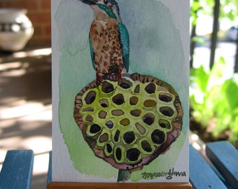 ACEO Limited Edition  1/25- The Kingfisher
