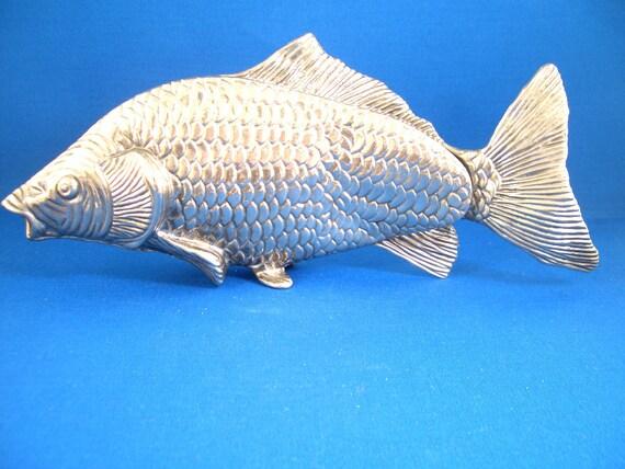 Vintage Silver Tone Fish Sculpture
