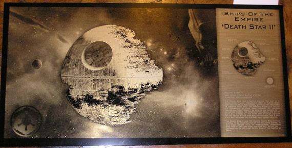Star Wars Death Star II Limited Edition Geekograph Metal Art