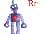 Nursery Art R For Robot Customizable with kids name
