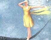 A Rope Walker Art Print High Quality Color Art Print