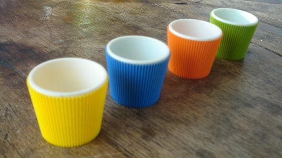 Rare Retro Color Egg Cups Made in Holland