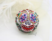 Love box of the day of the dead skull ring box RB0004