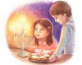 Hanukkah Card - Happy Hanukkah Card - Jewish Holiday Cards