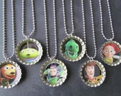 Toy Story Bottle Cap Party favors (6) / add more for 2 dollars each / a very large selection of Toy Story  images to choose from
