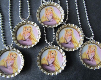Visit my shop for coupon / Tangled  Rapunzel Bottle Cap Party favors (6) / many images to choose from