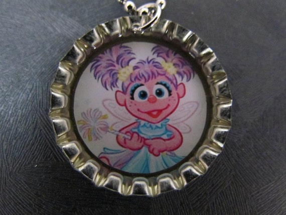Add on order / Abby Cadabby  Bottle Cap Necklace / adjusted price for a total of 12 party favors