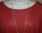 """31"""" sterling silver CHAIN NECKLACE oval links"""