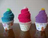 Cozy Spa Sock Cupcakes