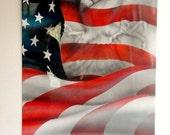 AIRBRUSH AMEICAN FLAG Eagle Painted Steel, Man Cave Garage Art, Patriotic, For Men, Ooak Original Airbrush Art