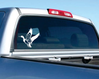 Flying Duck Car Decal  FREE SHIPPING