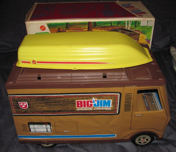 Vintage 1972 Big Jim Camper near Complete with Original Box