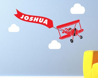 Custom Airplane wall decal for jfintes