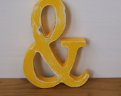 "Distressed Wood 24""  Ampersand or ANY Letter or Number 11 Colors Choice of Font"