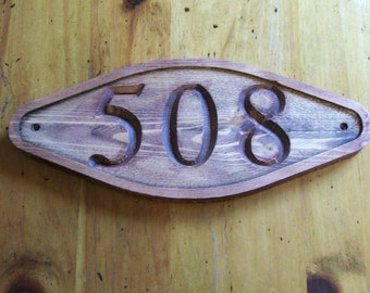 Custom Address Sign Carved Plaque