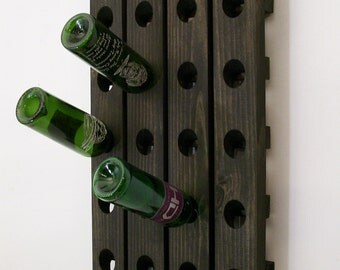 Wine Riddling Rack Wood Wall Hanging Winerack Ebony