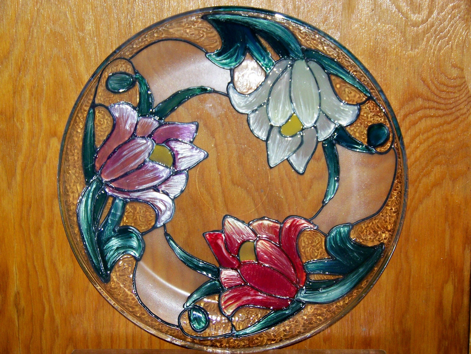 Elegant Plate With Gallery Glass Paintings By Susanpaints