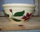 Vintage Watt Bowl Starflower Bowl Watt Starflower Bowl Watt Pottery Bowl