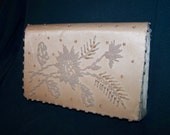 Beaded Clutch  White Beaded Purse Vintage Off White Beaded Clutch