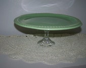 Mint Green Cake Stand Upcycled