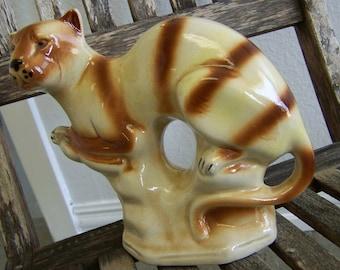 Cat Figurine Striped Cat Figurine
