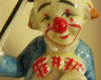 Clown Figurine Vintage Handpainted Homco