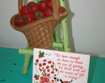 Vintage Strawberry Basket & Strawberry Girl Tile