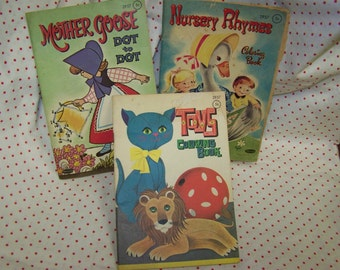 Vintage Coloring Books 1960's
