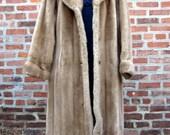 Mincara 1970s VIntage Faux Fur Coat