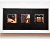 New York City Subway Series Tryptych Photograph on Canvas
