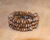 Memory Wire Real Coffee Bean Bracelet Natural Material Biodegradable For Coffee Lovers