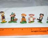 6 Vintage Hanna Barberra Tinykins - 1960's