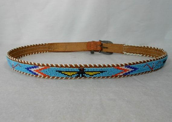 vintage 1970s beaded american belt by