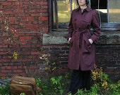 SALE - Vintage Trench Coat with Wool Liner