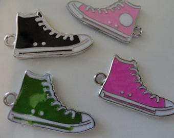 CLEARANCE Converse Sneaker Shoe Charm (5) DOUBLE SIDED -Colors limted