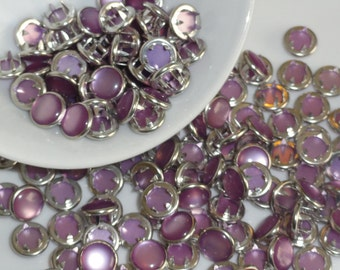 25 Pearl Snap 4 Part No Sew Size 16 Lavender