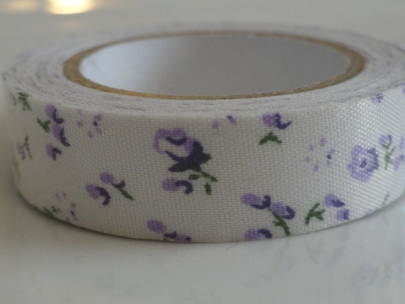 Washi Tape Purple Vintage Floral for Scrapbooking Crafting Invitations