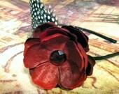 BLACK FRIDAY SALE Holiday Vintage Hollywood Flower Headband - vintage style,  newborn, baby, christmas headband