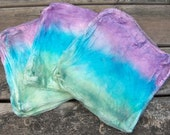 """Silk """"Hankies"""" - Hand Dyed - Ode to LV"""