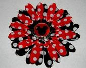 Disney Minnie Mouse Hair Flower Clip Accessory Disneyland Disneyworld Disney Cruise