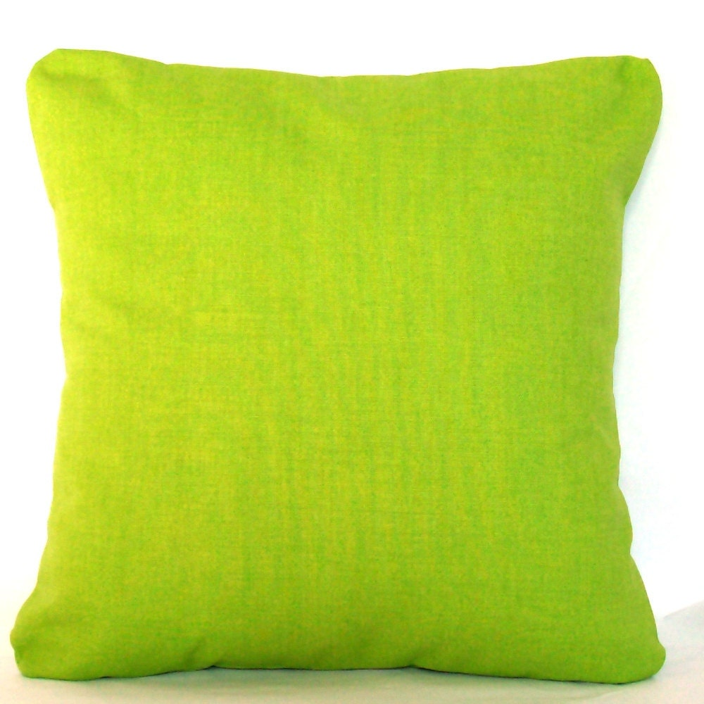 Green Pillow Covers Two 18x18 Inch Solid Throw Cushion