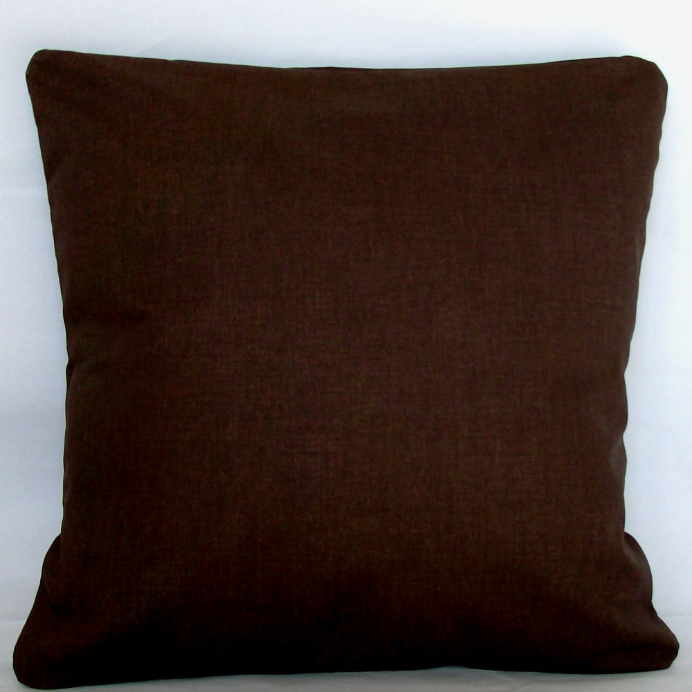 Decorative Pillows For Dark Brown Couch : Solid Brown Pillow Cover 18x18 or 20x20 inch Decorative