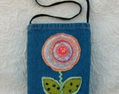 Silly little upcycled denim purse