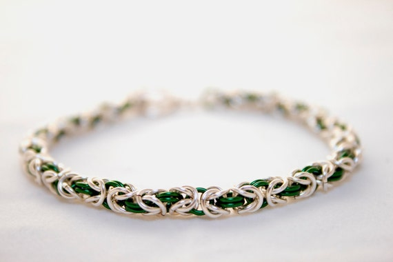 Byzantine Style Chainmaille Bracelet by Get Linked on Etsy