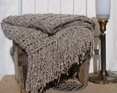 Home Decor Throw Ecru Taupe Earth Color Home Interiors Design Decorative Accent Fringed Blanket Afghan