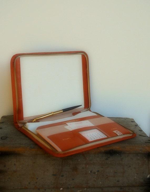 Vintage Leather Portfolio Day Planner Monogrammed