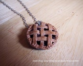Blueberry Pie Necklace - Thanksgiving Jewelry - smells sweet